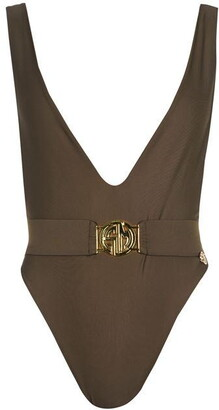 Sian Marie Muna Reversible V Neck Belted One Piece Swimsuit