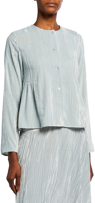 Vince Button-Front Ruched Paneled Blouse