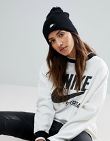 Nike Pom Pom Beanie In Black