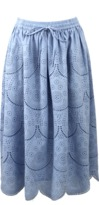 Suno Eyelet Tulip Skirt