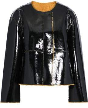 Stand Studio Ines Faux Shearling And Vinyl Jacket