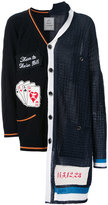 Miharayasuhiro combined knit cardigan