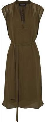 By Malene Birger Bolisma Satin-trimmed Chiffon Dress