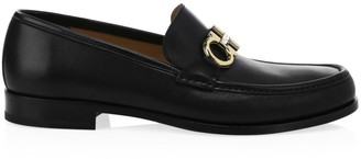 Salvatore Ferragamo Rolo Reversible Leather Penny Loafers