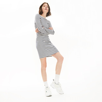 Lacoste Women's Nautical Ribbed Cotton Dress