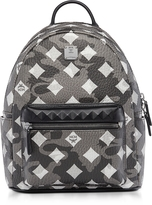 MCM Stark Camo Print Silver Shadow Medium Backpack