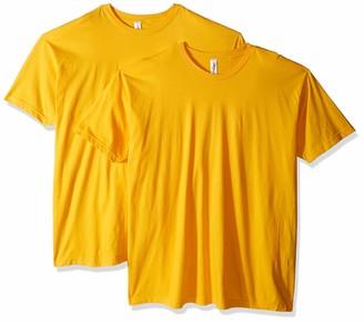 Marky G Apparel Men's Poly-Cotton USAMade Crewneck T-Shirt-2 Pack