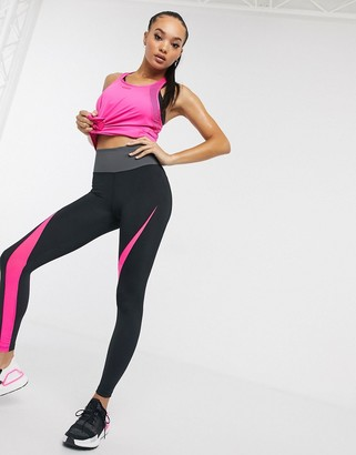 ASOS 4505 neon color block legging with bum sculpt seam detail
