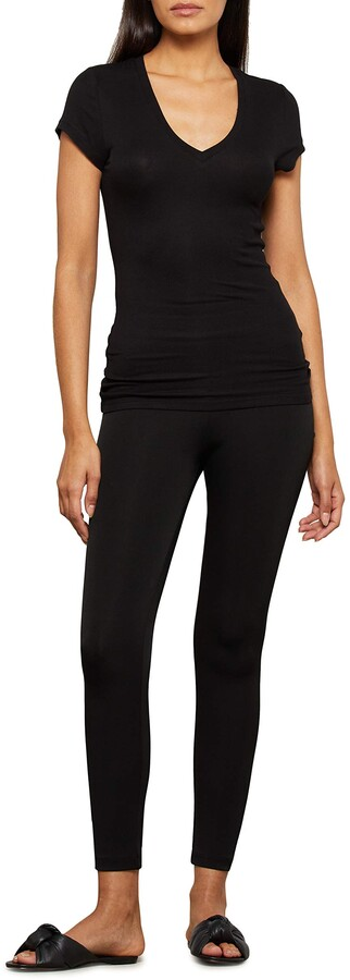 BCBGMAXAZRIA Women's Liana Short Sleeve V Neck Top Shirt