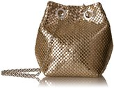 Jessica McClintock Kendra Mesh Bucket Evening Shoulder Bag