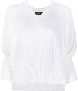 Maison Flaneur Ribbed V-Neck Jumper
