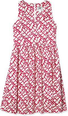 Helene Berman Women's Pink Abstract Print Sundress