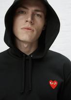 Comme des Garcons Black Hooded Red Heart Sweatshirt