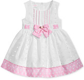 Bonnie Baby Dot-Print Eyelet Dress, Baby Girls (0-24 months)