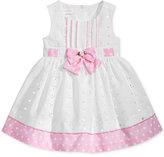 Bonnie Baby Dot-Print Eyelet Dress, Baby Girls (0-24 months)