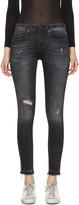 R 13 Black Alison Crop Jeans
