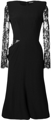 Alexander McQueen Lace Midi Dress