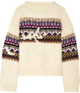 Etoile Isabel Marant Elsey Fair Isle Wool-blend Sweater - Cream