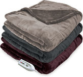 Serta Silky Plush 110-Volt Electric Warming Throw