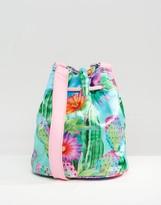 Jaded London Satin Cactus Bucket Bag