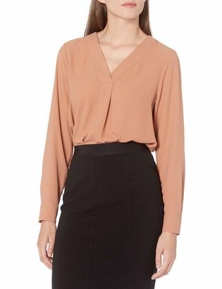 Lark & Ro Women's Standard Pullover Vneck Tunic Blouse