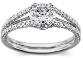 Micropave Diamond Engagement Ring in Platinum
