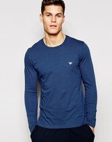 Emporio Armani Long Sleeve Top In Regular Fit