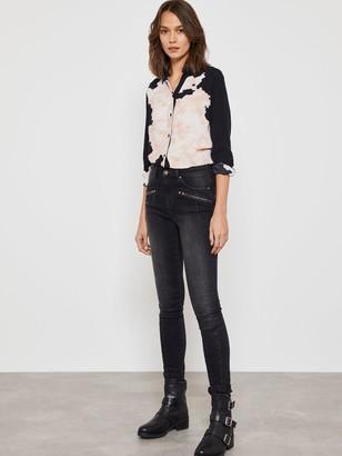 Mint Velvet Biker Jeans - Washed Black