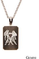 James Cavolini Italy Zodiac Stainless Steel Gemini Dog Tag Pendant