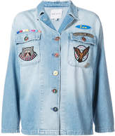 Mira Mikati mulit-patch denim overshirt