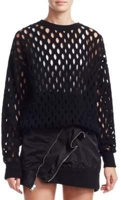 Alexander Wang Intarsia Fishnet Pullover
