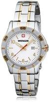 Wenger 0921.105 Women's Platoon White Dial Two Tone Bracelet Watch