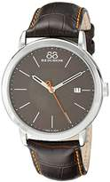 88 Rue du Rhone Men's 87WA120035 Analog Display Swiss Quartz Black Watch