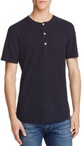 7 For All Mankind Thermal Short Sleeve Henley Tee