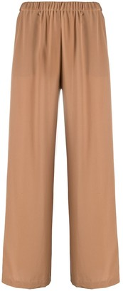 Aspesi Flared Silk Trousers