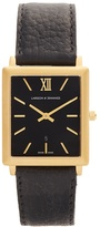 Larsson & Jennings Norse gold-plated and leather watch