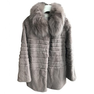 By Zoé Beige Rabbit Coat for Women