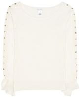 Oscar de la Renta Off-shoulder-pullover Aus Wolle Und Seide