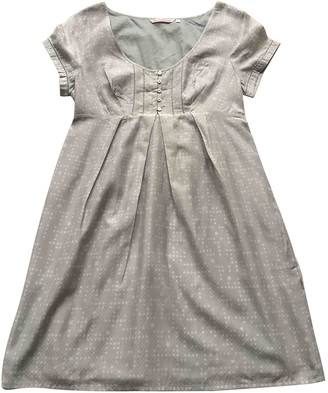 Berenice Silver Silk Dress for Women