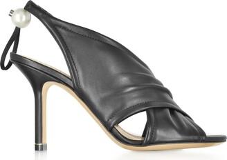 Nicholas Kirkwood Black Nappa 90mm Delfi Sandals