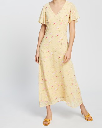 Dorothy Perkins Ditsy Dobby Seamed Midi Dress