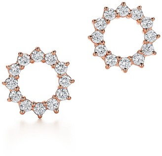 Tiffany & Co. Open circle earrings in 18k rose gold with diamonds