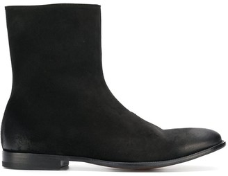 Alexander McQueen distressed ankle boots