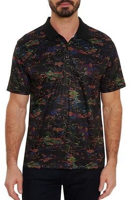 Robert Graham Shark Attack Printed Polo Shirt