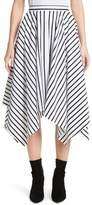 ADAM by Adam Lippes Stripe Cotton Asymmetrical Skirt