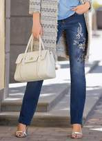 Together Embroidered Straight Leg Jeans