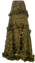 Rosie Assoulin ruffle tiered maxi skirt - women - Silk/Polyamide/Wool - 6