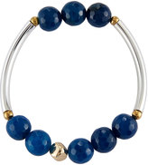 Nakamol Quartz Beaded Stretch Bracelet, Blue