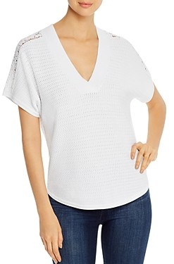 Design History Crochet-Inset Pointelle Top