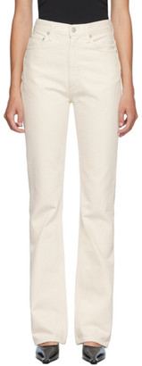 AGOLDE Off-White Vintage High Rise Flare Jeans